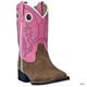 Laredo Childrens Mahaska Square Toe Boots 3 Pnk