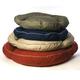 Classic Round Twill Bolster Dog Bed Khaki