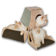 KH Mfg Thermo-Kitty Cabin Mocha Heated Cat Bed