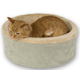 KH Mfg Thermo-Kitty Cuddle Up Sage Heated Cat Bed