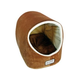 Armarkat Velvet Brown and Ivory House Pet Bed