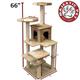 Majestic 66 Inch Casita Cat Furniture Tree
