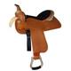 HH Saddlery Barbwire Rawhide Barrel Saddle 17
