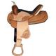 HH Saddlery Floral Double Skirt Barrel Saddle 17