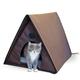 KH Mfg Outdoor Heated Multiple Kitty-A-Frame House