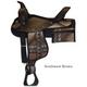 Wyoming Saddlery Cordura Trail Saddle w/Pockets 17