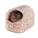 Armarkat Hooded Beige with Flower Pattern Cat Bed