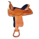 HH Saddlery Distressed Tooled Trail Saddle 17