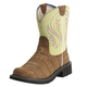 Ariat Ladies Fatbaby Heritage Gator Lime Boots 7.5