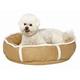 Quiet Time Deluxe Rondelle Pet Bed Khaki