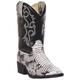 Laredo Childrens Snake Pit Rnd Blk/Wht Boots 9.5
