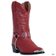 Laredo Childrens Little Concho Boots 3 Red