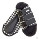 Roma Houndstooth Splint Boots White