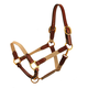 Tory Leather and Cotton Web Halter Warmblood Navy