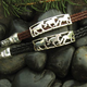 Three Horses Cord Bracelet Brown