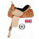 American Saddlery Zebra Cross Barrel Saddle 16In