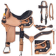 Silver Royal High Noon Saddle Package 16in Brown