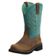 Ariat Ladies Probaby Flame Brown/Turq Boots 11