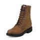 Justin Mens Dbl Cmfrt Lacer Bark Work Boots