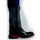 Ferrini Ladies Turquoise Cross Sq Toe Boots 10