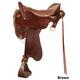 Tucker Smooth Brass Endurance Saddle Wide 17.5 Brn
