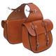 Tucker Traditional Saddle Bags w/Chrome Brown