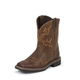 Justin Junior Stampede Sq Rugged Tan Boots 3