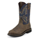 Justin Mens Stampede Steel Blue Work Boots 14EE