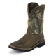 Justin Mens Sq Wtrprf RealTree Work Boots 14EE
