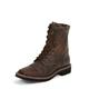 Justin Mens Stampede Steel Tan Work Boots
