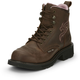 Justin Ladies Gypsy Steel 6in Bark Work Boots 11
