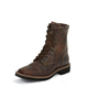 Justin Mens Stampede Sq Lace Tan Work Boots
