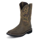 Justin Mens Steel Toe Wtrprf Tan Work Boots 14EE