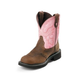 Justin Ladies Gypsy Steel 8in Pink Work Boots 11