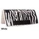 Tough-1 Acrylic Zebra Saddle Pad White