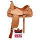 Big Horn Floral/Acorn Tooled Roper Saddle 16in