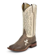 Tony Lama Ladies Sq Toe Tan Tuscan Goat Boots 10W