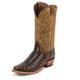 Nocona Mens Narrow Sq Toe Caiman Choc Boots 13EE