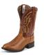 Tony Lama Mens Round Cognac Peanut Boots 13EE