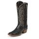 Nocona Ladies Sq Toe FQ Ostrich Black Boots 12