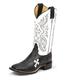 Tony Lama Ladies Sq Toe Royal Black Cow Boots 10W