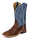 Tony Lama Mens Square Toe Pecan Bison Boots 13EE