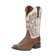 Ariat Ladies Quickdraw Sq Distressed Wht Boots 11
