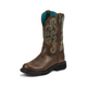 Justin Ladies Gypsy Rnd 11in Choc Chip Boots
