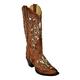 Ferrini Ladies Southern Belle Sq Toe Boots 10 Brn