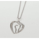 Horse Head Heart Necklace Youth