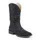 Roper Ladies Sq 11in Crystal Cross Blk Boots 11