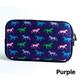 Tek Trek Horse Print Zipper Bag Teal