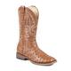 Roper Mens Sq Toe Faux Ostrich Tan Boots
