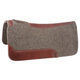 Tough-1 Wool Western Saddle Pad w/Wear Leathers